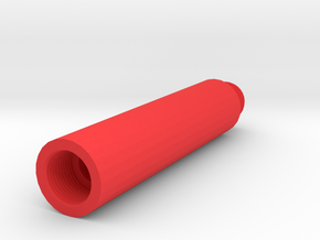 80mm 14mm+ External Barrel Extension in Red Strong & Flexible Polished