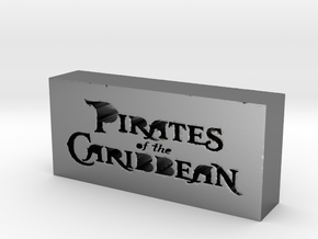 Pirates of the Caribbean Logo in Polished Silver