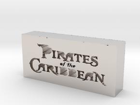 Pirates of the Caribbean Logo in Platinum
