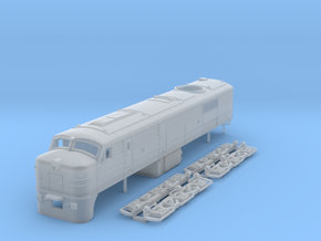 TT Scale ALCo DL500 locomotive in Frosted Ultra Detail