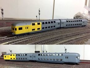 LBE Doppelstockwagen (1:120) in Smooth Fine Detail Plastic