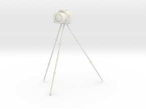 1/24 Camera on Tripod for Diorama in White Natural Versatile Plastic