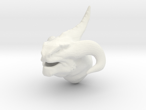 Non-Scale Dragon Head in White Natural Versatile Plastic