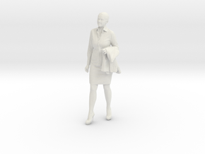 1/10 Standing Business Woman in White Natural Versatile Plastic