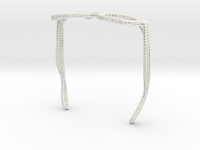 Lattice Sunglassesframe in White Natural Versatile Plastic