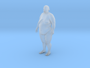 Fat Woman in Smooth Fine Detail Plastic: 1:72