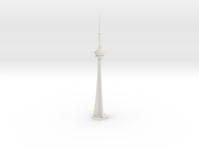 CN Tower (1:2000) in White Strong & Flexible