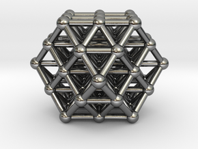Vector Equilibrium Matrix in Polished Silver