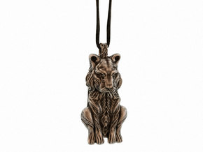 The Sleeping Tiger - Pendant in Polished Bronze Steel