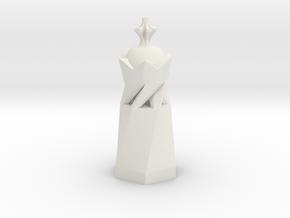 King in White Natural Versatile Plastic