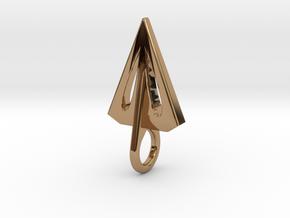 Airfoil Arrowhead Pendant/Earring in Polished Brass