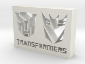 Transformers Logo in White Natural Versatile Plastic