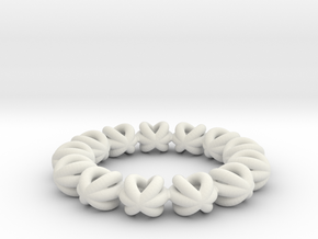 Bracelet Of Circles v2.13 in White Natural Versatile Plastic