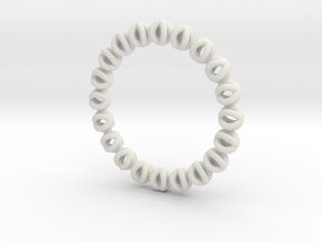 Bracelet Of Circles V2.5 in White Natural Versatile Plastic