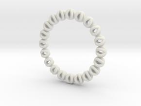 Bracelet Of Circles V2.5 in White Strong & Flexible