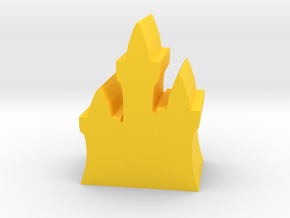 Game Piece, Elven Fortress in Yellow Processed Versatile Plastic