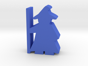 Game Piece, Wizard with cloak and hat in Blue Processed Versatile Plastic