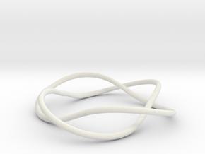 Bracelet with Two Rings V2.5 in White Natural Versatile Plastic