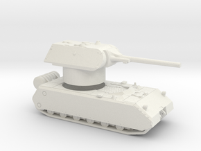 Maus With Rotatable Turret in White Natural Versatile Plastic