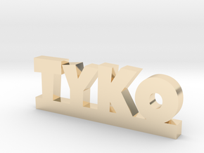 TYKO Lucky in 14k Gold Plated Brass