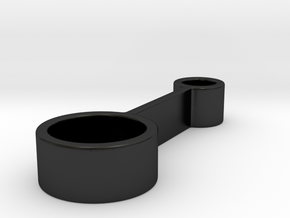 Candle holder in Matte Black Porcelain