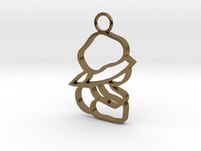 Top & Tail Silver Sitting Baby Figure in Polished Bronze