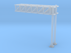 N Scale Sign Cantilever 47mm in Smooth Fine Detail Plastic