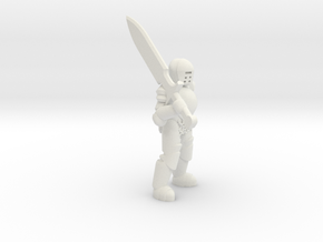 General Paladin Mini (Greatsword) in White Strong & Flexible