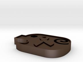 PiggyRibbon - OOMF in Polished Bronze Steel