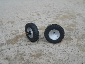 1/64 Scale 42 Inch Dual Rim And Tires in Smooth Fine Detail Plastic