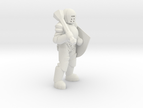 General Paladin Mini (Mace and Shield) in White Strong & Flexible
