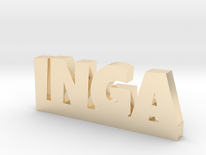 INGA Lucky in 14k Gold Plated Brass