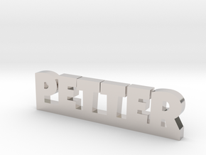PETTER Lucky in Rhodium Plated Brass