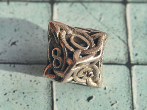 Celtic D10 in Polished Bronzed Silver Steel