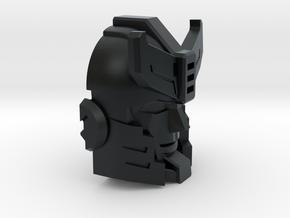 Police Strategist's Face in Black Hi-Def Acrylate