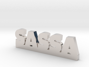 SASSA Lucky in Rhodium Plated Brass