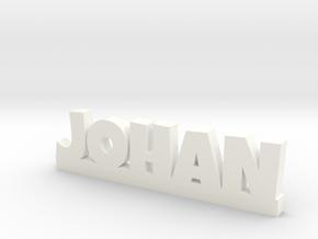 JOHAN Lucky in White Processed Versatile Plastic