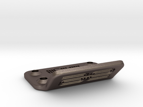 RC10T / RC10GT Front Bumper in Polished Bronzed Silver Steel