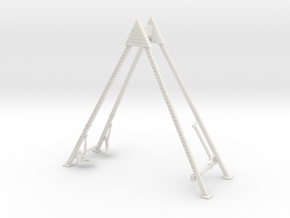 Pharoahs's Fury aframe support structure in White Natural Versatile Plastic