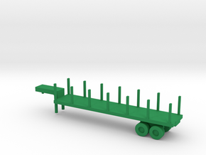 1/200 Scale M270 Semitrailer Low Bed in Green Strong & Flexible Polished