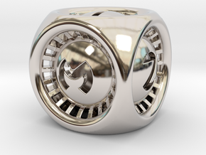 Turbo D6 in Rhodium Plated Brass