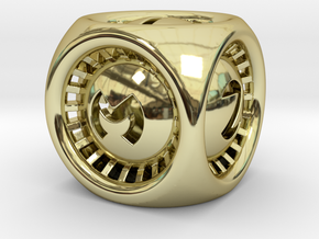Turbo D6 in 18k Gold Plated Brass