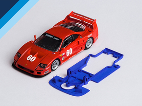 1/32 Fly Ferrari F40 Chassis for Slot.it AW pod in Blue Processed Versatile Plastic