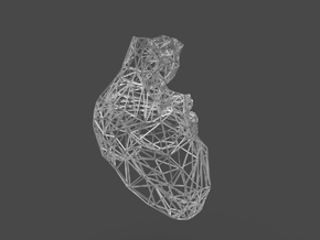 lattice human heart in White Strong & Flexible