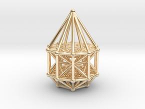 Penteract Matrix Stargate in 14k Gold Plated Brass