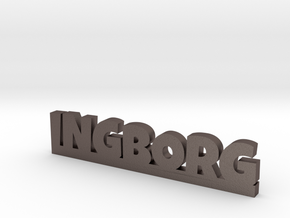 INGBORG Lucky in Polished Bronzed Silver Steel
