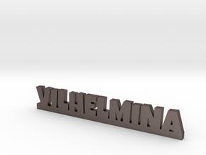 VILHELMINA Lucky in Polished Bronzed Silver Steel