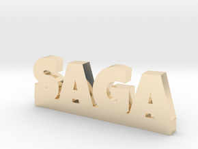 SAGA Lucky in 14k Gold Plated Brass