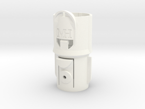 Adapter for Dyson V7/V8 to pre-V7 tools in White Processed Versatile Plastic