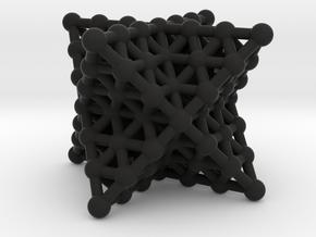 Merkaba Matrix 3 - Star tetrahedron grid in Black Natural Versatile Plastic